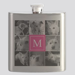 Photo Block with Rose Monogram Flask