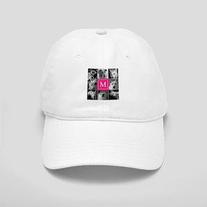 Photo Block with Rose Monogram Baseball Cap