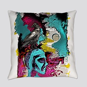 Think Know Crow Everyday Pillow