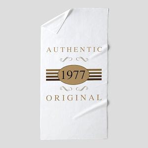 Authentic 1977 Birthday Beach Towel