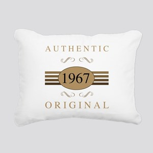 Authentic 1967 Birthday Rectangular Canvas Pillow
