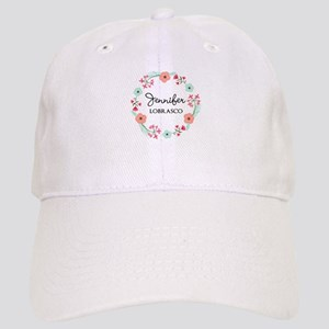 Personalized Floral Wreath Baseball Cap