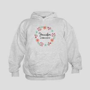 Personalized Floral Wreath Sweatshirt
