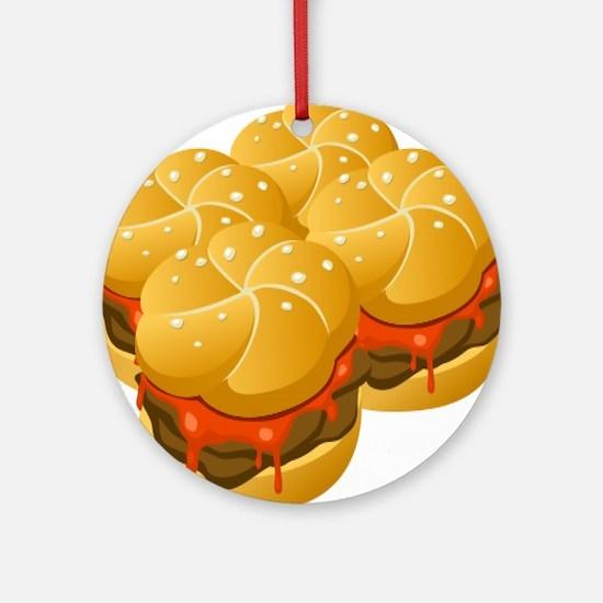 BBQ Sandwiches Round Ornament