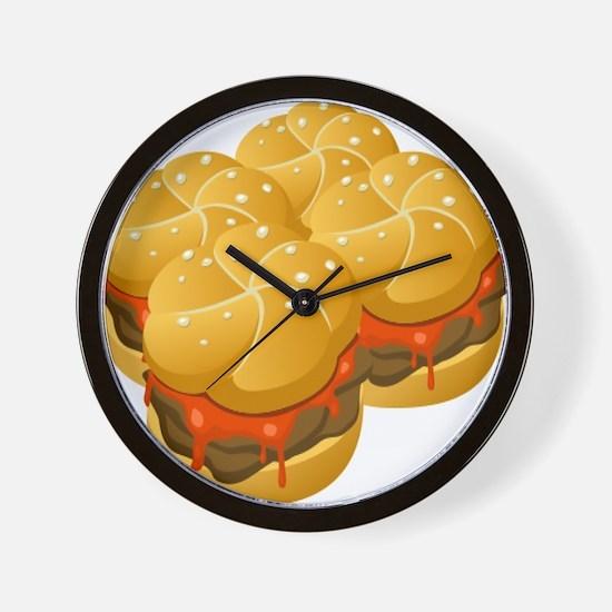 BBQ Sandwiches Wall Clock