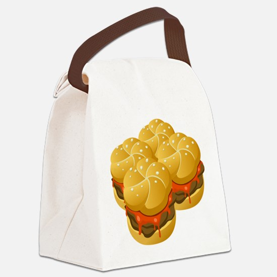 BBQ Sandwiches Canvas Lunch Bag