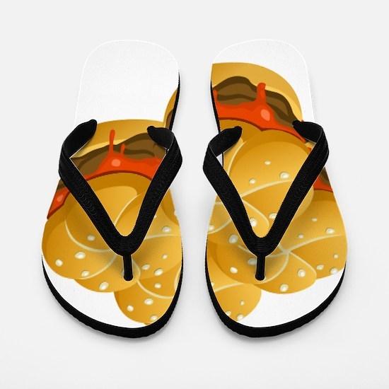 BBQ Sandwiches Flip Flops