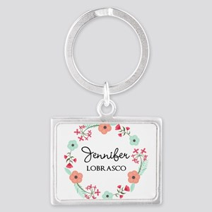 Personalized Floral Wreath Keychains