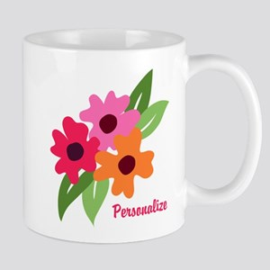 Floral Personalized Monogram Mugs