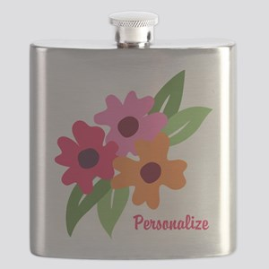 Floral Personalized Monogram Flask