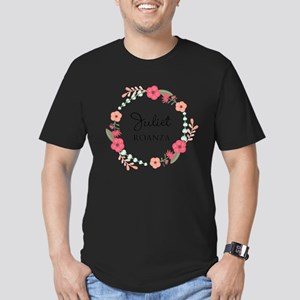Flower Wreath Name Monogram T-Shirt