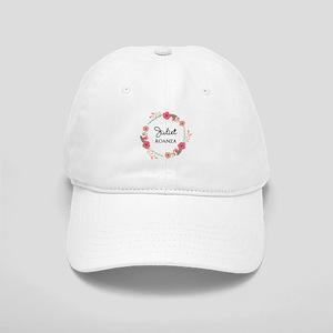 Flower Wreath Name Monogram Baseball Cap