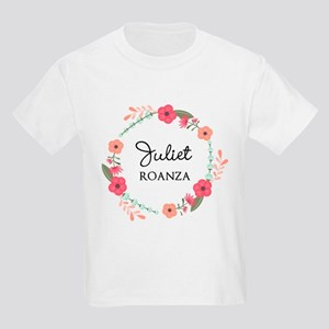 Flower Wreath Name Monogram T-Shirt