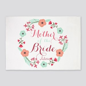 Chic Floral Wreath Mother of the Bride 5'x7'Area R
