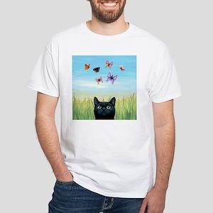 Cat 606 nature butterflies T-Shirt