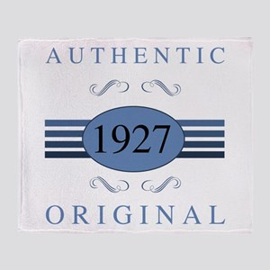 Authentic 1927 Birthday Throw Blanket