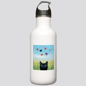 Cat 606 nature butterf Stainless Water Bottle 1.0L