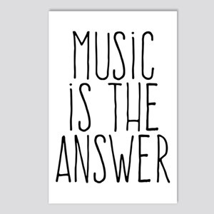 Music Is The Answer Postcards (package Of 8)