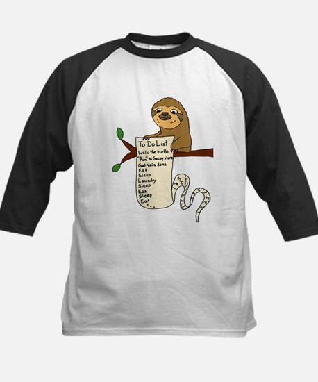 Sloth with Long To Do List Baseball Jersey