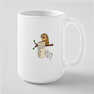 Sloth with Long To Do List Mugs