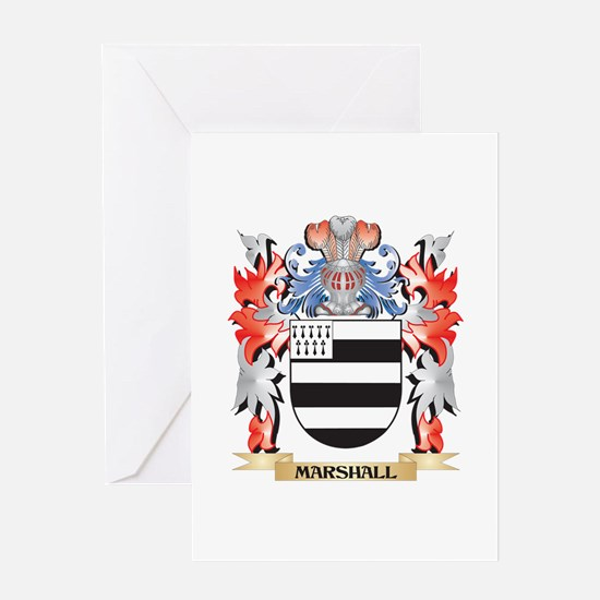 Marshall Coat of Arms - Family Cres Greeting Cards