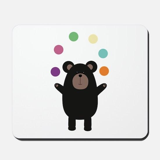 Black Bear juggling Mousepad