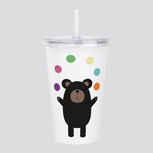 Black Bear juggling Acrylic Double-wall Tumbler