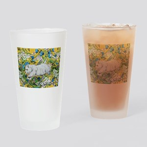 Westie Agility Drinking Glass