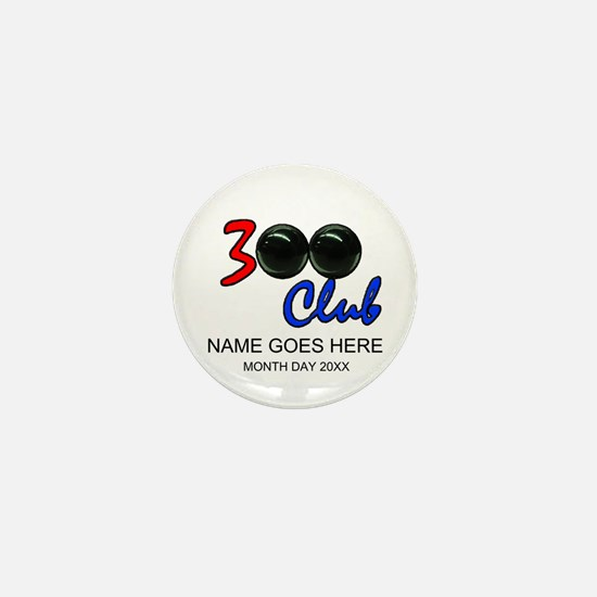Personalized 300 Perfect Game Bowling/ Mini Button
