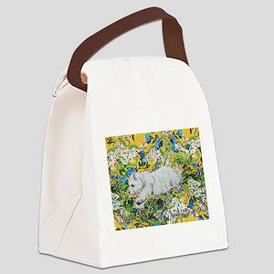 Westie Agility Canvas Lunch Bag