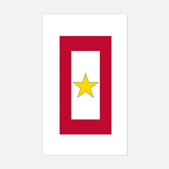 Gold Star Flag Decal