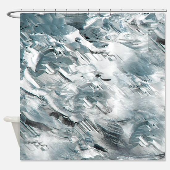 Rough White Diamond Pattern Shower Curtain