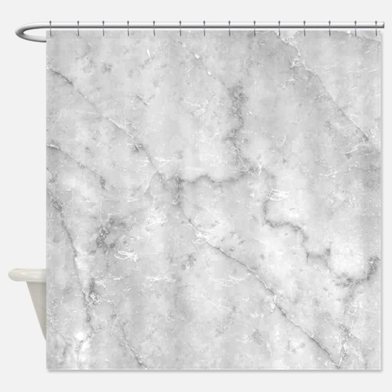 White Marble Pattern - Light Contra Shower Curtain