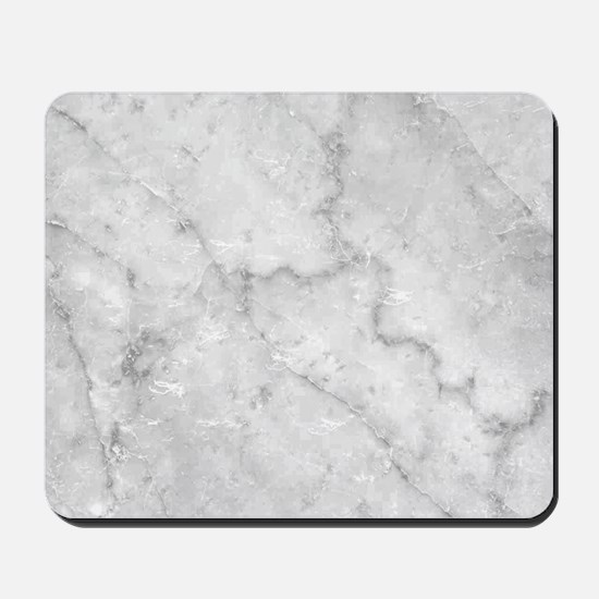 White Marble Pattern - Light Contrast Mousepad