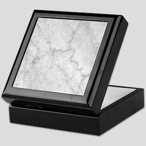 White Marble Pattern - Light Contrast Keepsake Box