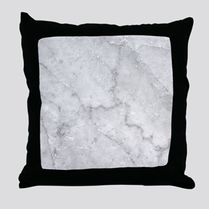 White Marble Pattern - Light Contrast Throw Pillow