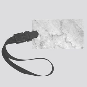 White Marble Pattern - Light Con Large Luggage Tag