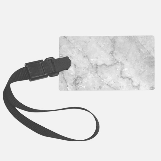 White Marble Pattern - Light Con Luggage Tag