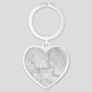 White Marble Pattern - Light Contra Heart Keychain
