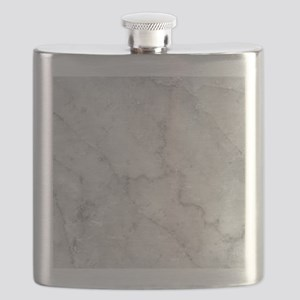 White Marble Pattern - Light Contrast Flask