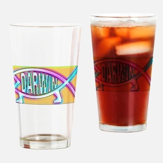 Original Darwin Fish (Neon) Drinking Glass