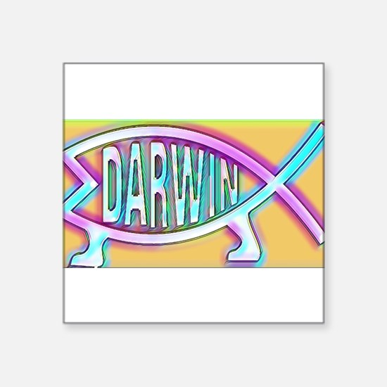 Original Darwin Fish (Neon) Sticker