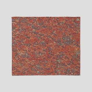 Red Granite Pattern (Light) Throw Blanket