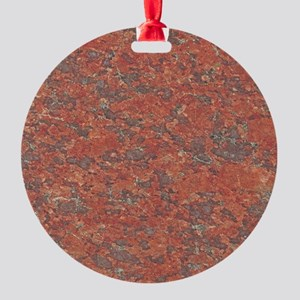 Red Granite Pattern (Light) Round Ornament