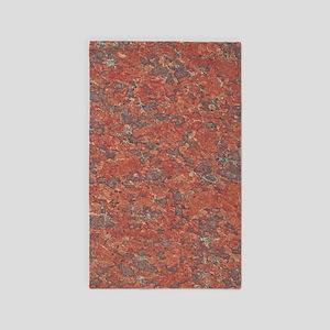 Red Granite Pattern (Light) Area Rug