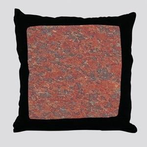 Red Granite Pattern (Light) Throw Pillow