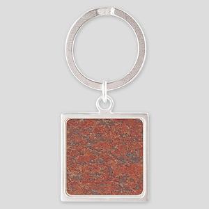 Red Granite Pattern (Light) Square Keychain