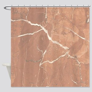 Red - Brown Marble Pattern (Light) Shower Curtain