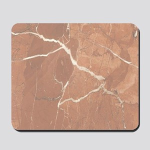 Red - Brown Marble Pattern (Light) Mousepad