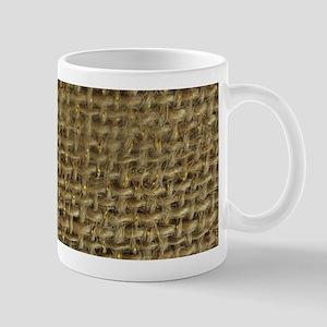 Burlap & Gold Pattern Mug